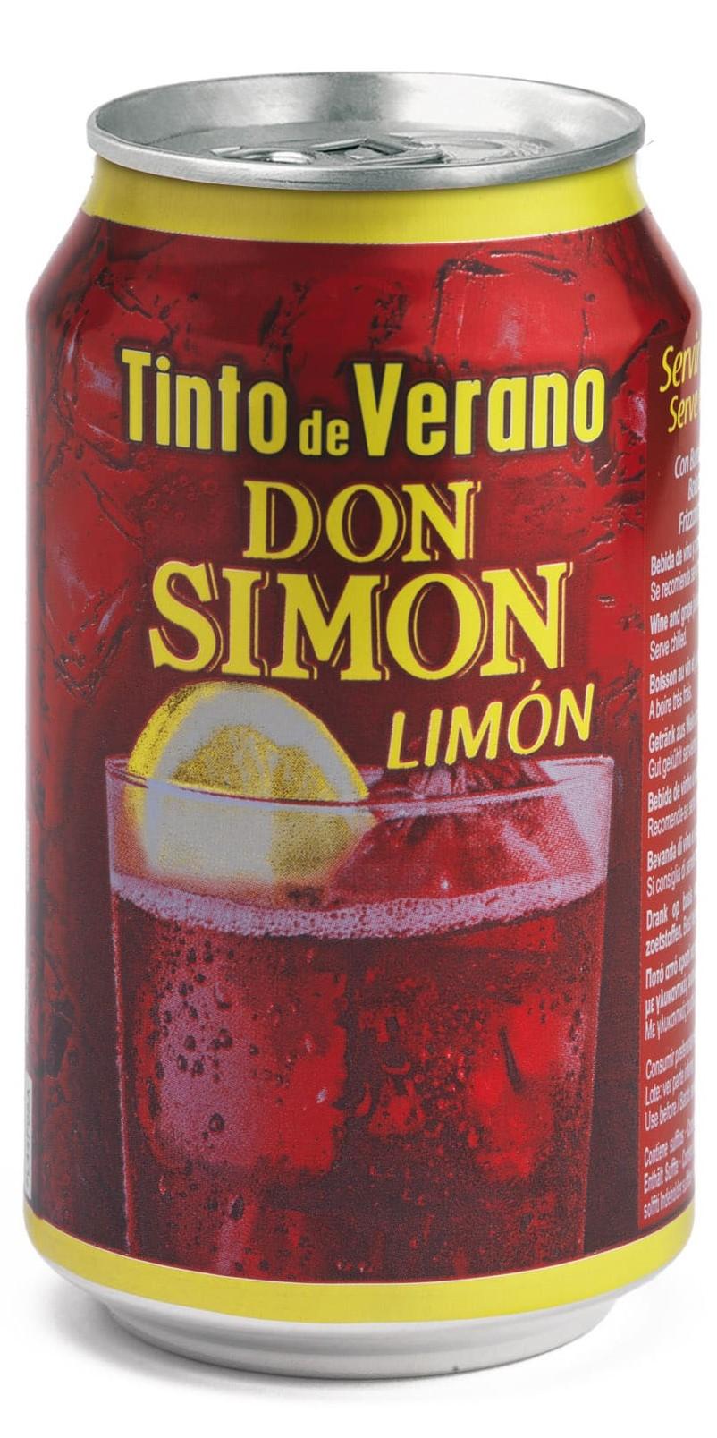 Tinto De Verano Don Simón Sabor Limón Lata 330ml